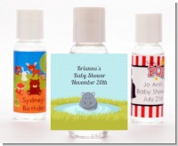 Hippopotamus Boy - Personalized Baby Shower Hand Sanitizers Favors