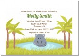 Hippopotamus Boy - Baby Shower Petite Invitations