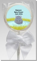 Hippopotamus Boy - Personalized Baby Shower Lollipop Favors