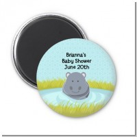 Hippopotamus Boy - Personalized Baby Shower Magnet Favors