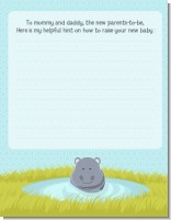 Hippopotamus Boy - Baby Shower Notes of Advice