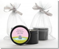 Hippopotamus Girl - Baby Shower Black Candle Tin Favors