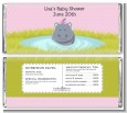 Hippopotamus Girl - Personalized Baby Shower Candy Bar Wrappers thumbnail