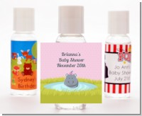 Hippopotamus Girl - Personalized Baby Shower Hand Sanitizers Favors
