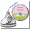 Hippopotamus Girl - Hershey Kiss Baby Shower Sticker Labels thumbnail