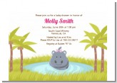 Hippopotamus Girl - Baby Shower Petite Invitations