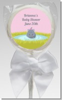 Hippopotamus Girl - Personalized Baby Shower Lollipop Favors