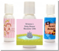 Hippopotamus Girl - Personalized Baby Shower Lotion Favors