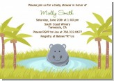 Hippopotamus Boy - Baby Shower Invitations