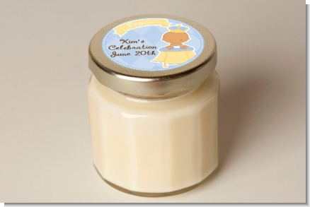 Little Prince Hispanic - Baby Shower Personalized Candle Jar
