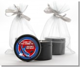 Hockey - Birthday Party Black Candle Tin Favors