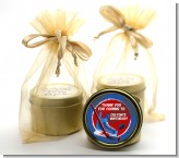 Hockey - Birthday Party Gold Tin Candle Favors