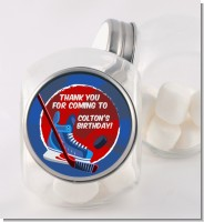 Hockey - Personalized Birthday Party Candy Jar