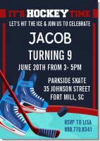 Hockey - Birthday Party Invitations