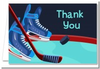 Hockey - Birthday Party Thank You Cards