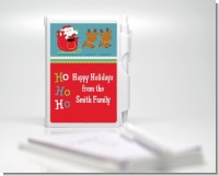 Santa And His Reindeer - Baby Shower Personalized Notebook Favor