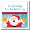 Ho Ho Ho Santa Claus - Square Personalized Christmas Sticker Labels thumbnail