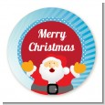 Ho Ho Ho Santa Claus - Round Personalized Christmas Sticker Labels thumbnail