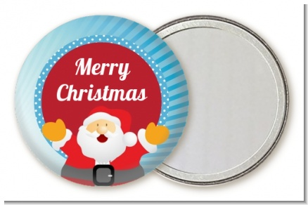 Ho Ho Ho Santa Claus - Personalized Christmas Pocket Mirror Favors