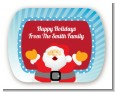 Ho Ho Ho Santa Claus - Personalized Christmas Rounded Corner Stickers thumbnail