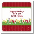 Holiday Cocktails - Square Personalized Christmas Sticker Labels thumbnail