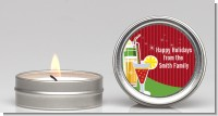 Holiday Cocktails - Christmas Candle Favors