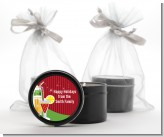 Holiday Cocktails - Christmas Black Candle Tin Favors