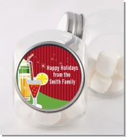 Holiday Cocktails - Personalized Christmas Candy Jar