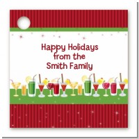 Holiday Cocktails - Personalized Christmas Card Stock Favor Tags