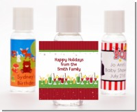 Holiday Cocktails - Personalized Christmas Hand Sanitizers Favors