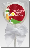 Holiday Cocktails - Personalized Christmas Lollipop Favors