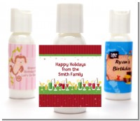 Holiday Cocktails - Personalized Christmas Lotion Favors