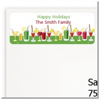 Holiday Cocktails - Christmas Return Address Labels