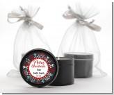 Holly Berries - Christmas Black Candle Tin Favors