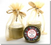 Holly Berries - Christmas Gold Tin Candle Favors