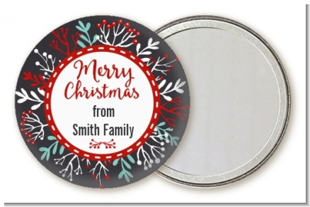 Holly Berries - Personalized Christmas Pocket Mirror Favors