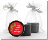 Holly - Christmas Black Candle Tin Favors