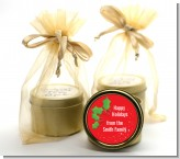 Holly - Christmas Gold Tin Candle Favors