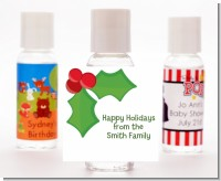 Holly - Personalized Christmas Hand Sanitizers Favors
