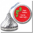 Holly - Hershey Kiss Christmas Sticker Labels thumbnail