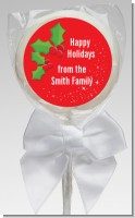 Holly - Personalized Christmas Lollipop Favors