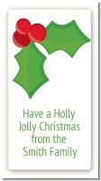 Holly - Custom Rectangle Christmas Sticker/Labels