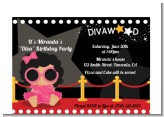 Hollywood Diva on the Red Carpet - Birthday Party Petite Invitations
