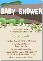 Hollywood Sign - Baby Shower Invitations