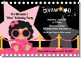 Hollywood Diva on the Pink Carpet - Birthday Party Invitations thumbnail