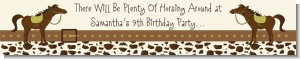 Horse - Personalized Birthday Party Banners