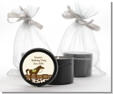 Horse - Birthday Party Black Candle Tin Favors