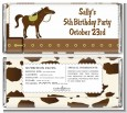 Horse - Personalized Birthday Party Candy Bar Wrappers thumbnail