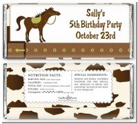Horse - Personalized Birthday Party Candy Bar Wrappers