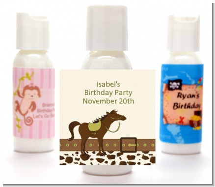 Horse - Personalized Birthday Party Lotion Favors